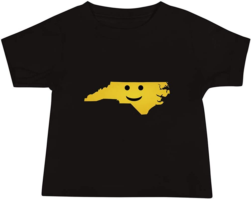 North Carolina Emoji Baby Short Sleeve Tee T-Shirt