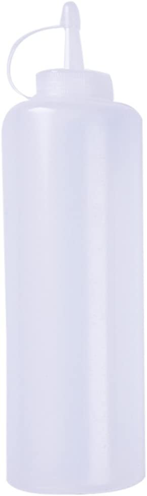 HUVE Botella de apreton de Cocina,Plástico Exprimir condimento Botellas dispensadores con Tapas para Salsa BBQ Aceite de Oliva Ketchup Mostaza mayonesa Salsa Picante Mayo aderezo de Ensalada (24OZ)