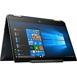 "2019 HP Spectre x360 13t 2-in-1 Laptop, 13.3"" UHD 4K Touch Display, Intel Core i7-8565U, 16GB Ram, 512GB PCIe Solid State Drive, Windows 10, Poseidon Blue (Renewed)"