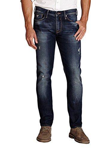 GUESS Men's Slim Tapered Jeans in Davison Destroy Wash