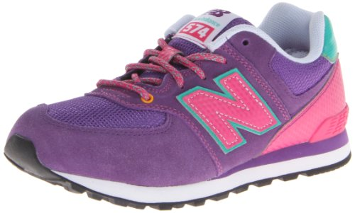 New Balance Classic Traditionnel Purple Youths Trainers Size 5 UK