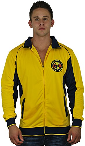 Club America Jacket Track Soccer Adult Sizes Soccer Football Official Merchandise Small Yellow ()