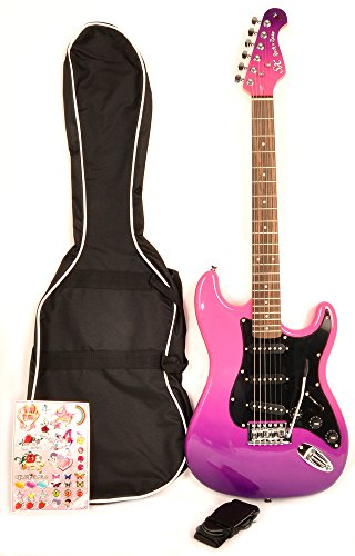 SX GE Rose 1K PPB Purple Electric Guitar 7/8 Size with Bag and Strap