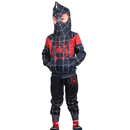 Tsyllyp Kids Boys Full-Zip Up Hoodies Pants Set Spider Verse Costume Cosplay