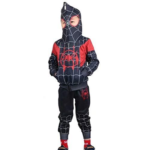 Tsyllyp Kids Boys Full-Zip Up Hoodies Pants Set Spider Verse Costume -
