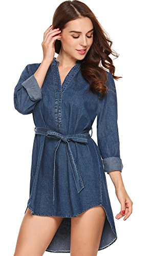 azul de vestido de camisa la mujer marino Acevog nzFPtxqRwn