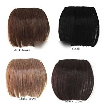 2014 Popular Full Bangs Pieces Clip in on Hair Extensions Brazilian Bang buytra