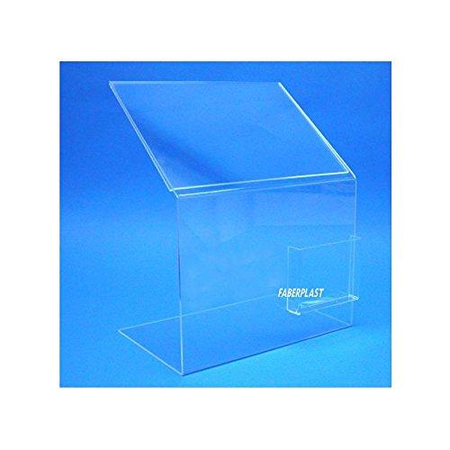 Faberplast FB907 - Expositor con cajetín, transparente ...
