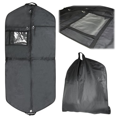 HANGERWORLD Pack of 3 Suit Dress Garment Clothes Cover Bag - Superb Quality - Waterproof & Breathable - 54 Inches Long