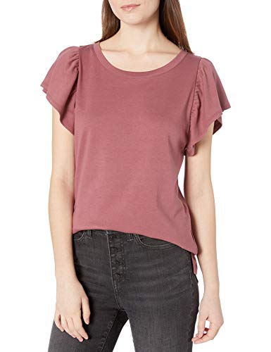 Amazon Brand - Goodthreads Women's Cotton Interlock Flutter Sleeve Top