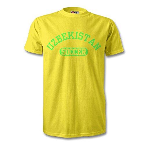 Uzbekistán camiseta de fútbol, color amarillo/verde