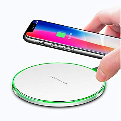 LEXONIX Wireless Charger Qi-Certified 7.5W Wireless Charging Compatible with iPhone Xs MAX/XR/XS/X/8/8 Plus,10W Compatible Galaxy S10/S10 ...
