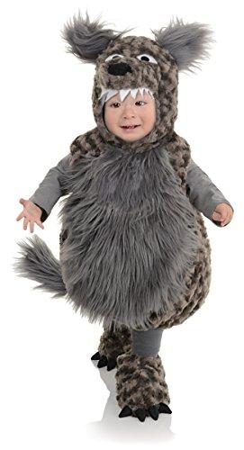 Underwraps Baby's Wolf Belly, Dark Grey, X-Large (Bad Girl Halloween Costume)
