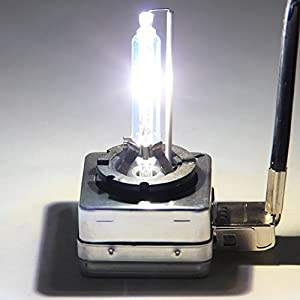 RCP - D3S6 - (A Pair) D3S 6000K Xenon HID Repcement Bulb Diamond White Metal Stents Base 12V Car Headlight Lamps Head Lights 35W