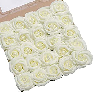 Ling's moment Artificial Gardenia Flowers w/Stem for DIY Wedding Bouquets Centerpieces Arrangements Party Baby Shower Home Decorations 5