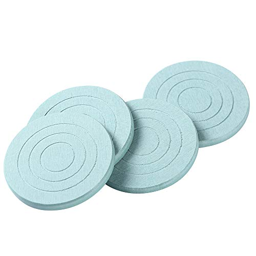 HiramWare Natural Diatomite(AKA Diatomaceous Earth) Drink Coasters, set of 4 - Absorbent Modern Round Coaster for Table and Furniture - Unique, Cool, Good Room Decor, Heat Resistant, Decorative (Sets Drink Unique Coaster)
