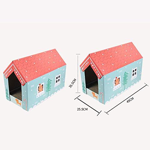 alloet Corrugated Paper Cat Grab Board Wear-Resistant Cat House Grinder Kitten Toy by alloet (Image #4)