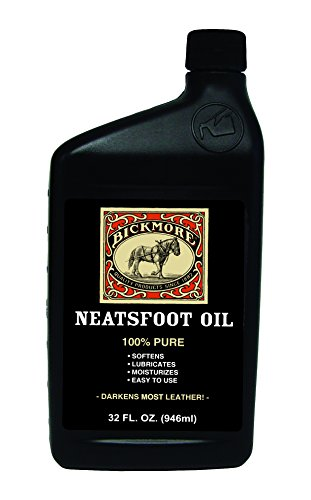 (Bickmore 100% Pure Neatsfoot Oil 32 oz - Leather Conditioner and Wood)