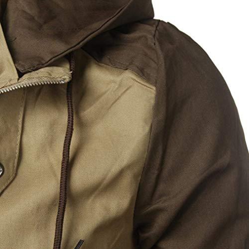 Poliestere Kaki Huixin Patchwork Sottile Uomini Giacca Autunno Bomber Cappotto Abbigliamento Inverno Streetwear Casuale BBqS6Zn