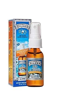 Sovereign Silver Bioactive Silver Hydrosol 10 PPM Fine Mist Spray