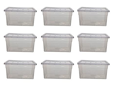 PLASTIC STORAGE BOXES BOX CONTAINERS 35 LTR LITRE SET PACK LID CLEAR TRANSPARENT (9 BOX  sc 1 st  Amazon.com & Amazon.com: PLASTIC STORAGE BOXES BOX CONTAINERS 35 LTR LITRE SET ... Aboutintivar.Com