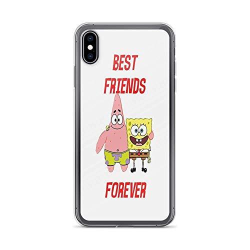 Akdf iPhone X Case iPhone Xs Case Cases Clear Anti-Scratch Patrick & Spongebob Best Friends Forever, Patrick Cover Case for iPhone X/iPhone Xs, Crystal Clear