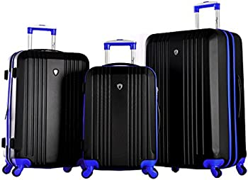 Olympia USA Apache 3-Piece Expandable Hard-Case Luggage Set