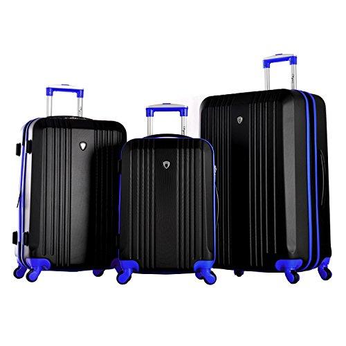- Olympia Apache 3pc Hardcase Spinner Set, Black/Blue