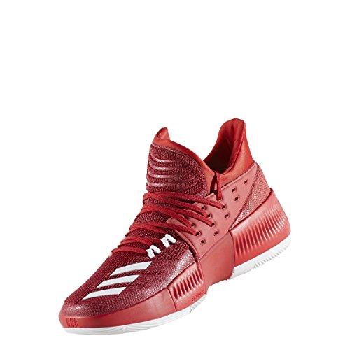 Adidas Dame 3 Scarpa Da Basket Da Uomo Rosso-bianco