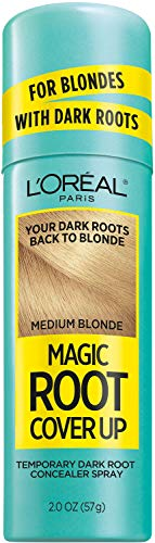 L'Oreal Paris Magic Root Cover Up Hair Color Magic Root Cover Up Concealer Spray For Blondes with Dark Roots, Ammonia and Peroxide Free, Medium Blonde, 2 fl. oz.