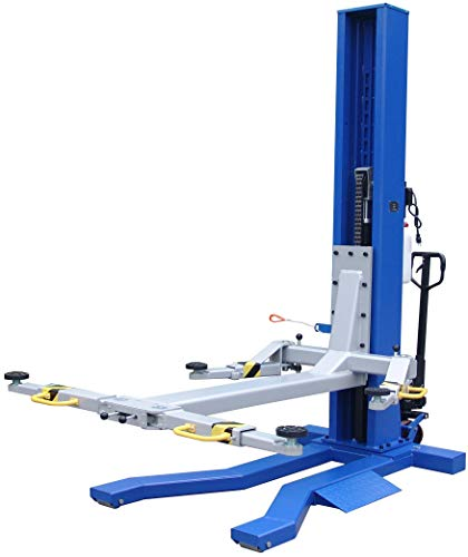 - Ideal 6000 lb Capacity Mobile Single Column Lift