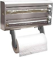 Kitchen Craft Master Class MCMULTIDISPSS - Portarrollos múltiple para Cocina de Acero Inoxidable, 38 x 19 x 8 cm