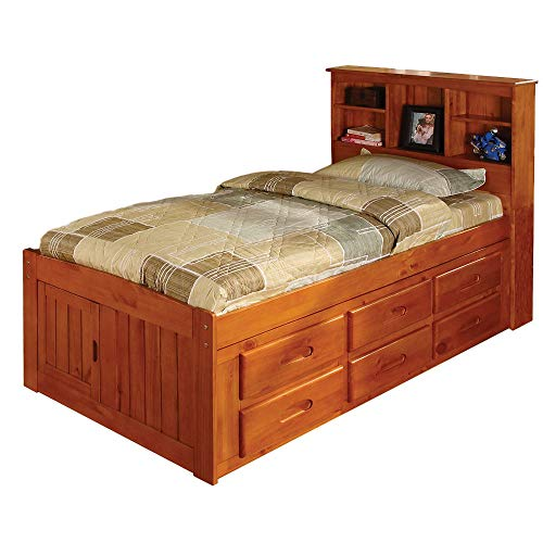 GT Wooden Twin Bed Frame Platform Toddler Single Bed Overhead Storage Bunk Headboard Bedding Bedroom Furniture & Ebook Easy2Find