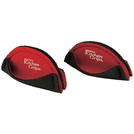 Kitchen Grips 11050110 2-Piece Short Handle Pan Holder, Black 110501-10