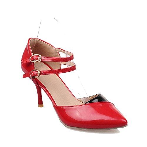 Summer Sexy Women Sandals High Heel Ladies Formal Fight Sandals Size 30 31 32-43 44 45 46 47,Red,6.5