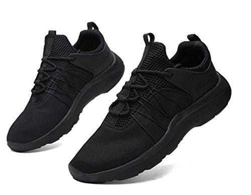 Nelson Kent Mens Mode Marche Occasionnel Athlétique Confortable Chaussures De Course Sneakers Noir