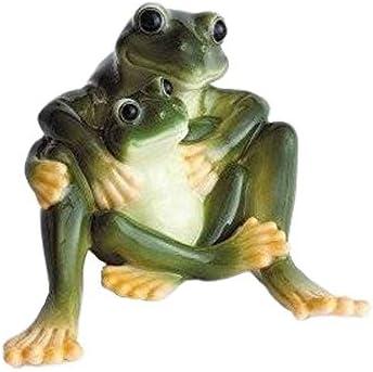 Franz Porcelain Amphibia frog mother daughter figurine Franz Fine Porcelain