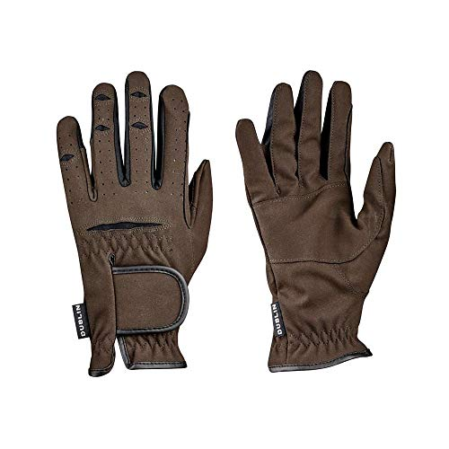- Weatherbeeta, Dublin, Everyday Mighty Grip Riding Gloves, Brown, Adults Large