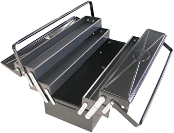 Ironside - Caja de metal para herramientas (5 compartimentos, 540 x 200 x 200 mm): Amazon.es: Bricolaje y herramientas