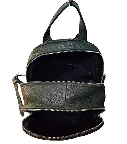 In Pelle Donna Vera Bottega Italy Made Zaino Verde Carele Bc714 qwant7