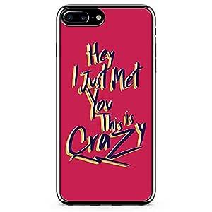 iPhone 8 Plus Transparent Edge Phone case Crazy Phone Case Love Phone Case Valentine Phone Case Music iPhone 8 Plus Cover with Transparent Frame
