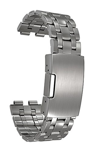 Pebble Steel Stainless Metal Watchband - Brushed Stainless