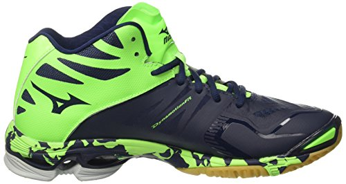 Mizuno Wave Lightning Z2 Mid, Scarpe da Pallavolo Uomo Blu (Dressblues/White/Greengecko)