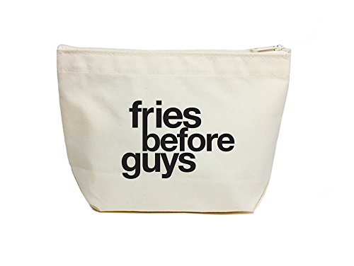 Dogeared Fries Before Guys Lil Zip, Black/Canvas - Lil Zip Bag