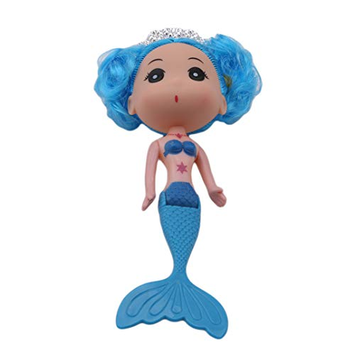 Girl's For Body Roll Set Little Princess Doll Gift Blue Toy Mermaid Crown Double Joofff Play And qxXt7v