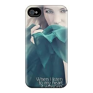 Bertha Roberto Orellana Perfect Tpu Case For Iphone 4/4s/ Anti-scratch Protector Case (listen To My Heart)