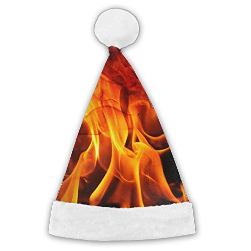 LanFong Fire Hot Flames Burning Bright Xmas Costume Santa Hat For Christmas Party Winter Beanie Medium (Party Hat Runescape)
