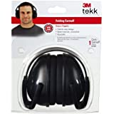 3M TEKK Protection Folding Ear Muffs, Black by 3M