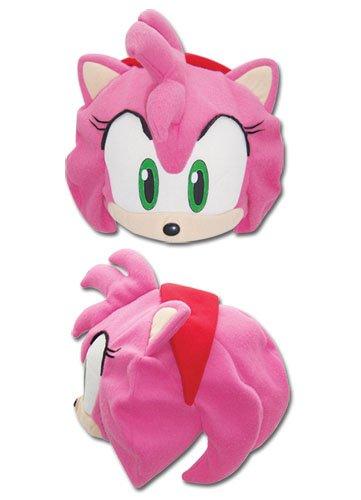 [SONIC THE HEDGEHOG AMY FLEECE CAP] (Hedgehog Costumes For Kids)