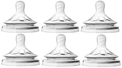 Philips Avent Natural Nipple First Flow +  Newborn - 6 Pack (Avent Newborn Nipple)